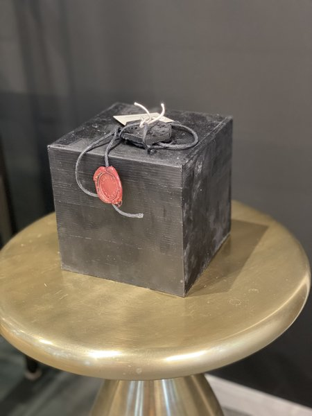 Celine Cannon 4 Wick Cube Black Solid Candle