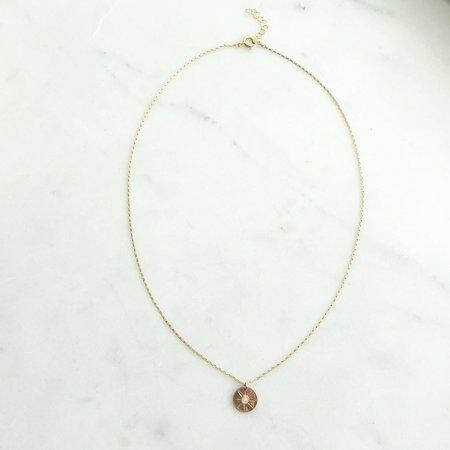 Token Starburst Coin Necklace - GOLD