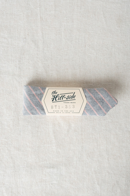 The Hill-Side/Hickoree's Bow Tie In Navy/Coral Pencil