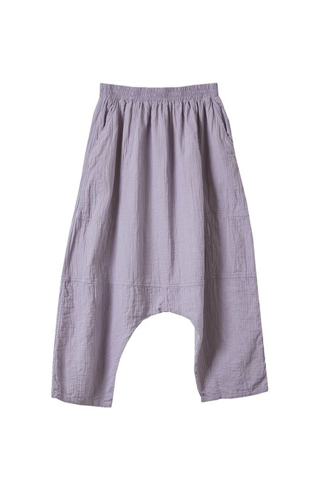 Atelier Delphine Kiko Wrinkled Cotton Pant - Purpling Dawn