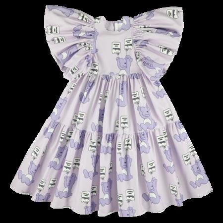 kids caroline bosmans long dress - allover purple teddy