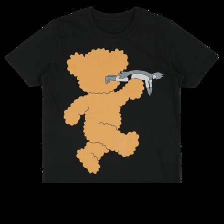 kids caroline bosmans t-shirt - black/brown teddy