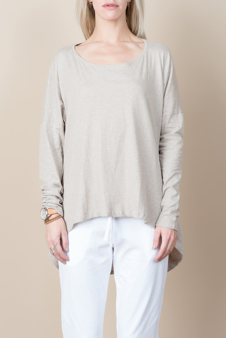 Kowtow Building Block Drape Top In Oatmeal