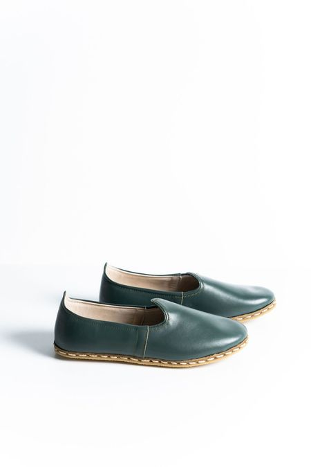 Ocelot Market Women's Turkish Yemeni Loafers - green