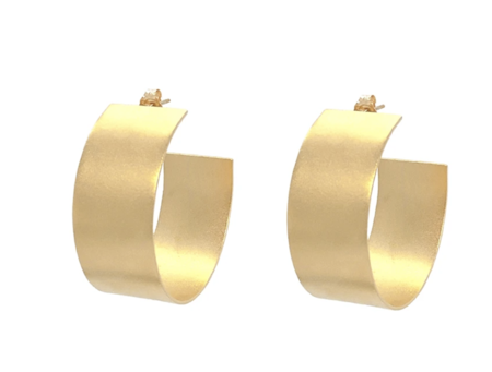 Jurate Jean Hoop - 14K Gold Plated Brass