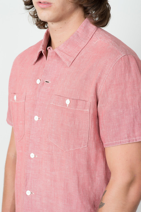 RRL Camp Shirt In Cardinal Red