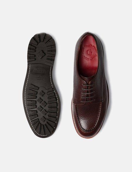 Grenson Parker Derby Natural Grain Shoes - Dark Brown