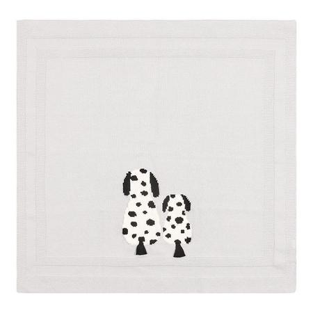 Kids Stella McCartney Baby Blanket - Knit Dog Grey