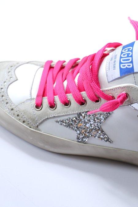 Golden Goose Mid Star Sneakers - GlitterStar/PinkLaces