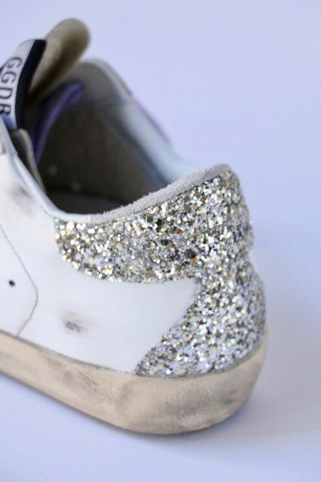 Golden Goose Super Star Sneakers - Silver Glitter Heel
