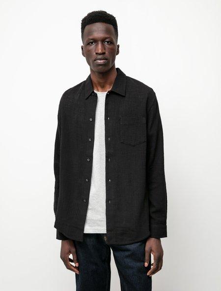 Sefr Leo Shirt - Black Hopsack