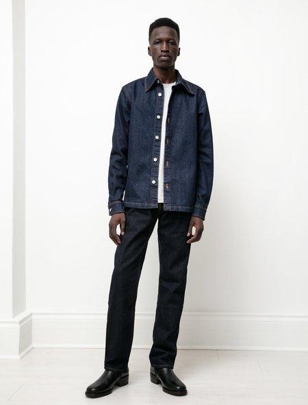 Sefr Mens Straight Cut Jeans - Soft Raw Indigo Blue