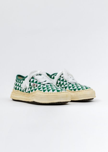 Mihara Yasuhiro Canvas Original Sole Overdyed Sneaker - Green Printed