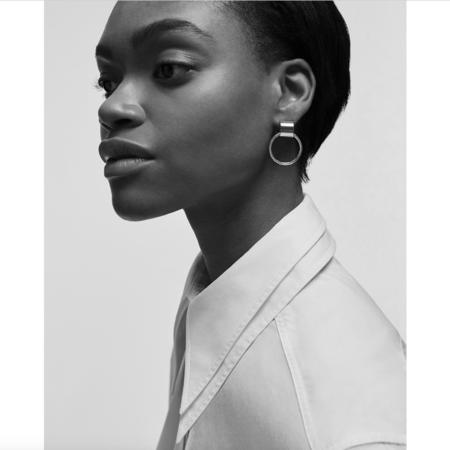 Jenny Bird Faye Knockers Earrings - Silver