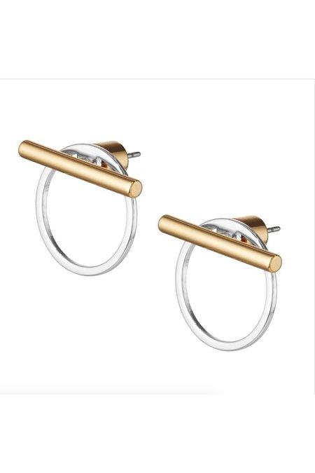 Jenny Bird Rhye Jackets Earring - Two Tone