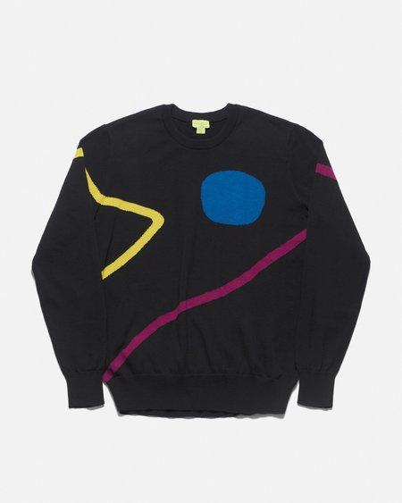 Poplin & Co. Crew Neck Sweater - Supernova Pattern