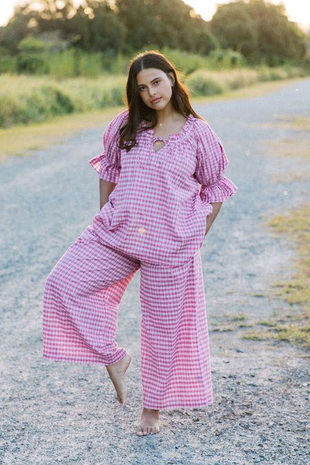 Little Tienda Gianna Pant - Raspberry Plaid