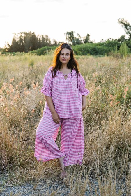 Little Tienda Layla Blouse - Raspberry Plaid