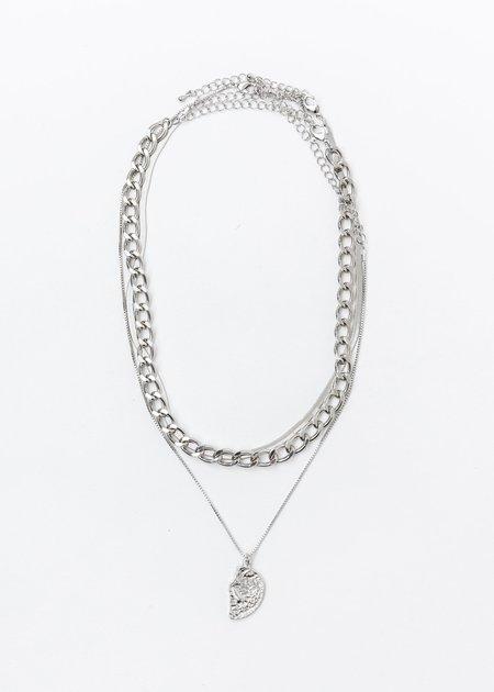 DEPARTMENT Mix Chains Necklaces Set - Silver