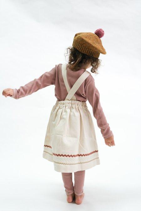 Kids Bebe Organic Eloise Pinafore Dress - Natural Denim