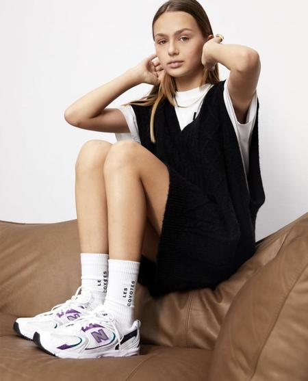 Kids Les Coyotes De Paris Ted Knitted Vest Dress - Black