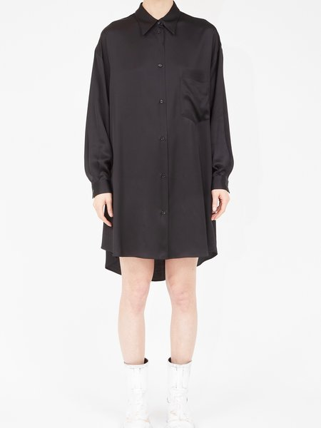 Maison Margiela Satin Shirt Dress - Black