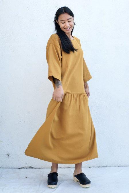 Black Crane Easy Dress - Gold