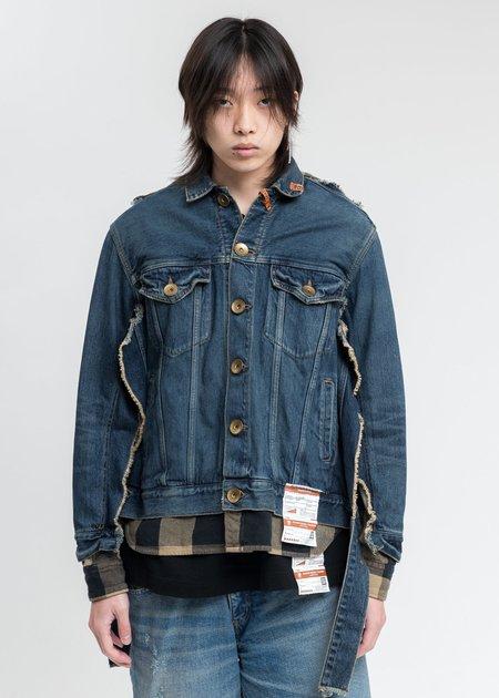 Mihara Yasuhiro Shirt Combined Denim Jacket - Indigo