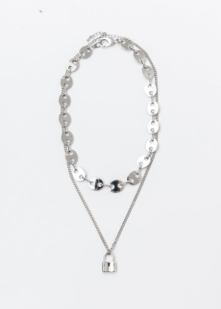 DEPARTMENT Chains And Lock Necklaces Set - Silver