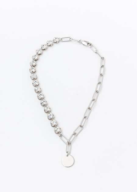 DEPARTMENT Mix Chain And Rhinestone Necklace - Silver