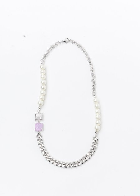 DEPARTMENT Pearl And Purple Candy Necklace - Silver