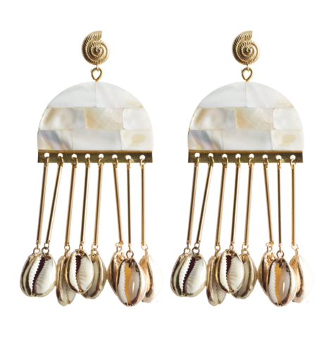Serendipitous Project Jelly Earrings - 14k gold plated
