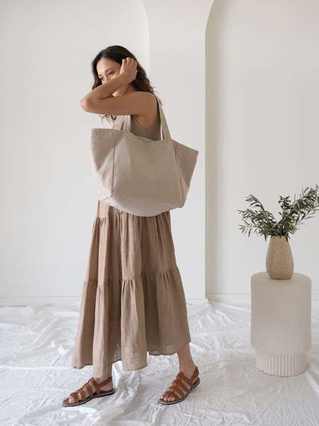 LAUDE the Label Natural Dye Tote - Taupe