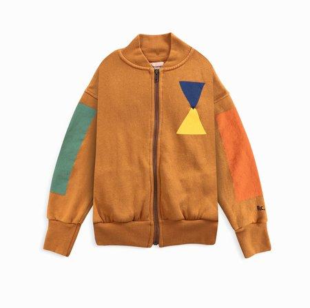 kids Bobo Choses Geometric Zipped Sweatshirt - Light Brown
