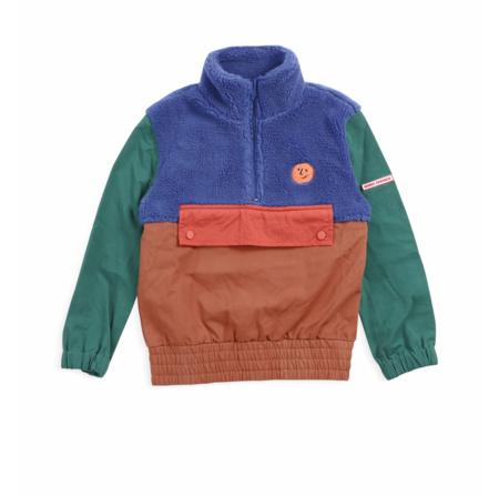 kids Bobo Choses Multicolor Polar Fleece Jacket - Tandori Spice