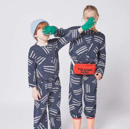 kids Bobo Choses Scratch All Over Fleece Overall - December Sky