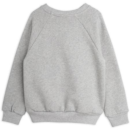 kids mini rodini peace dove sweatshirt - grey melange