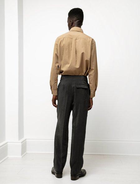 Lemaire 2 Pleats Pants - Dry Silk Coal