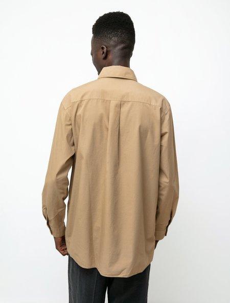Lemaire Patch Pocket Shirt - Camel