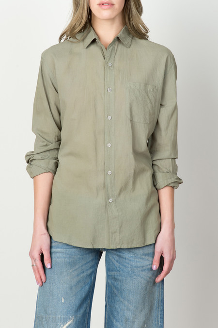 Industry of All Nations L/S Madras Shirt In Desert Green