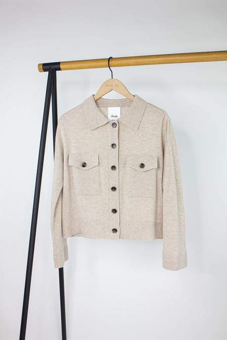 Allude Knit Jacket - Marble