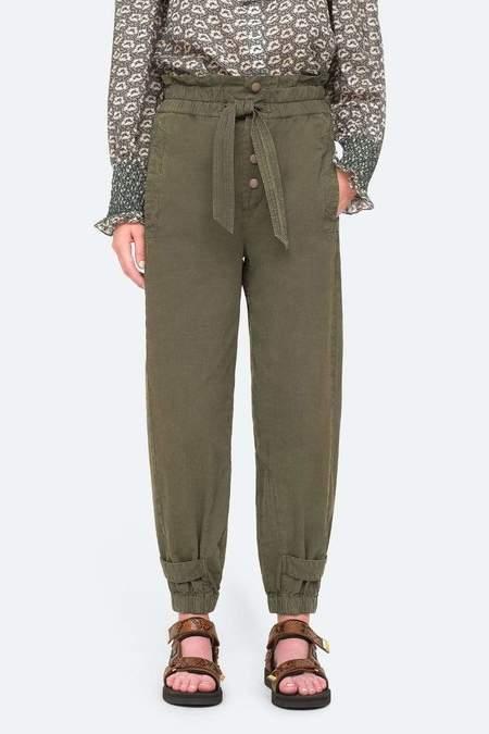 Sea NY Layla Canvas Pants - Army
