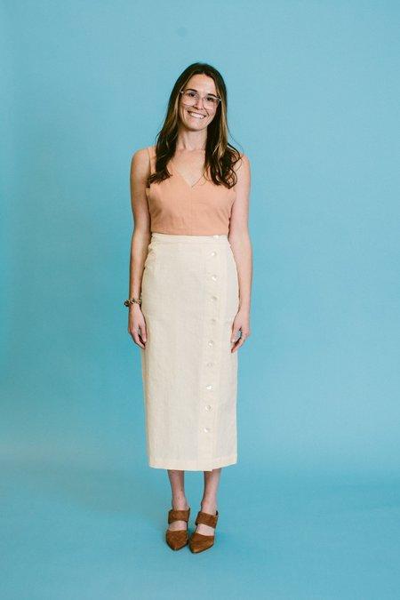 Ajaie Alaie Transitional Mother Of Pearl Skirt - Pearl