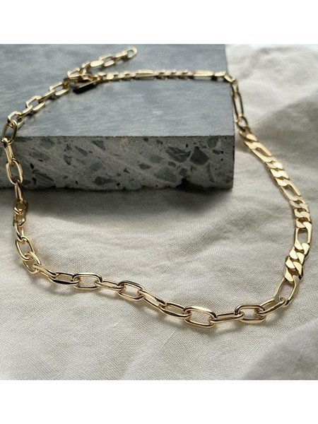 LADY GREY JEWELRY 50/50 Necklace - Gold plated