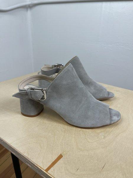 [Pre-loved] Amalfi Grey Suede Mule - Grey