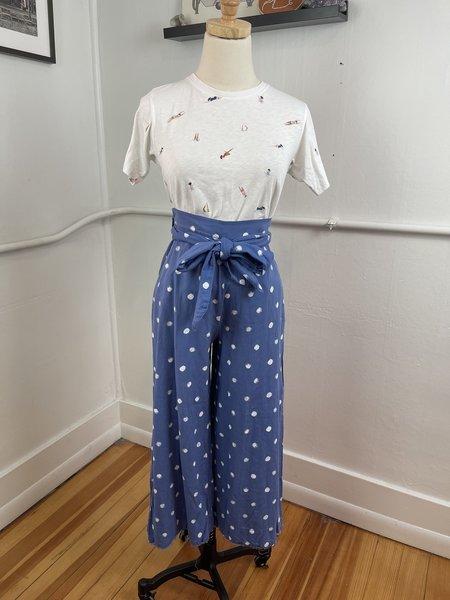 [Pre-loved] Bella Dahl Belted Trouser - BlueWhite