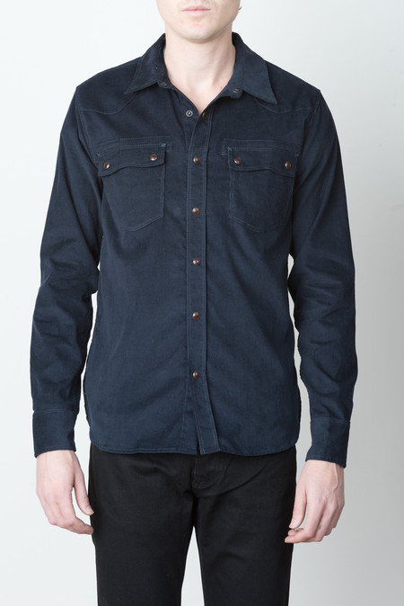 Freenote Cloth Modern Western In Navy Corduroy