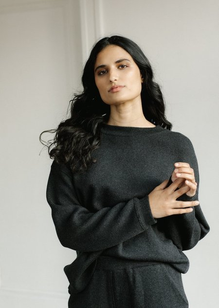 Bare Knitwear Lounge Crew pullover - Graphite