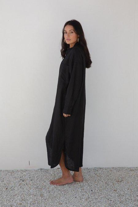 BAHHGOOSE INGE BUTTON UP DRESS - BLACK