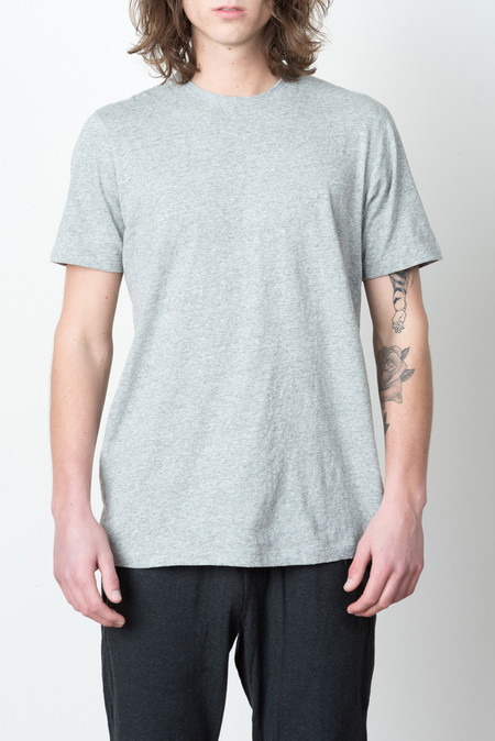 Wings + Horns S/S Knit Premium Jersey Tee In Heather Grey